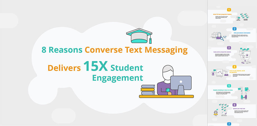 8 Reasons Converse Text Messaging Delivers 15X Student Engagement